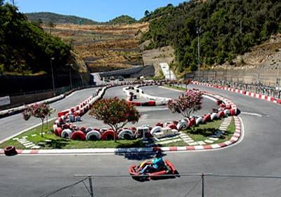 Go-kart racebanen in Ligurië