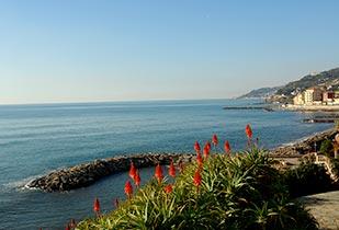Fantastisch zeezicht in Ligurië
