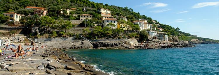 Vakantiehuis direct aan zee in Ligurië - Ontdek de stranden in Cervo