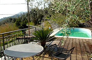 Holiday home with a pool for exclusive personal use in a quiet location in Liguria