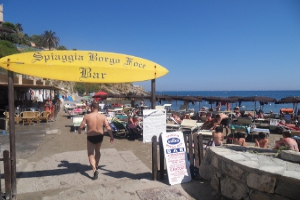 Spiaggia Borgo Foce Stranden in Ligurië