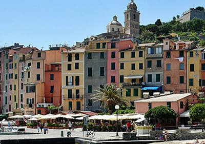 Uitzicht op Portovenere in Ligurië, Italië