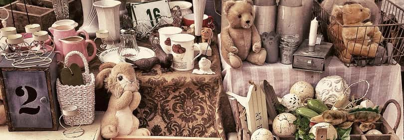 Antique goodies in an Antique market in Liguria