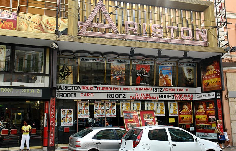 Das Ariston Theater in Sanremo, Italien ist ein Kino, wo auch Sanremo Music Festival stattfindet