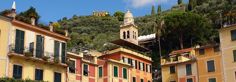 Blick aus Portofino in Ligurien