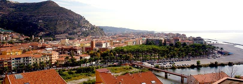 Uitzicht op Ventimiglia, Ligurie
