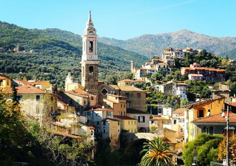 Een mening van een vakantiebestemming Dolcedo in Ligurië