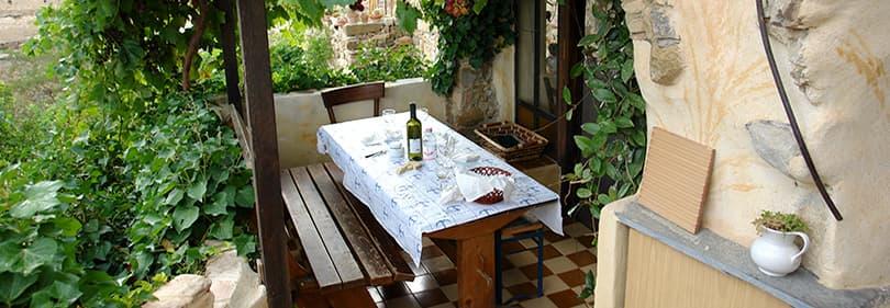 Restaurant in Bussana Vecchia in Ligurië