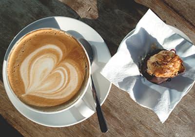 Een kopje cappuccino in Ligurië