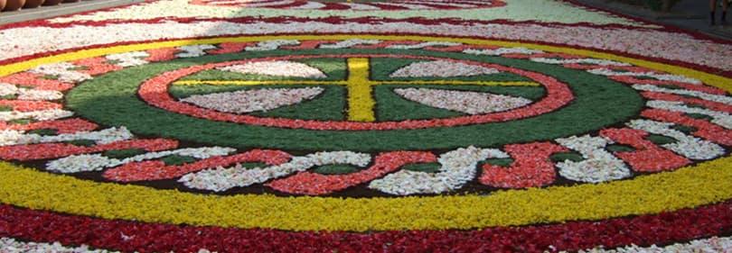 Ligurische vieringen - Flower Festival van Corpus Domini in Diano Marina