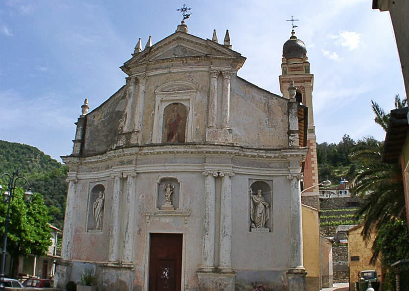 The church of Santo Stefano in Chiusanico