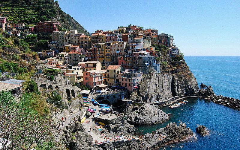 Een prachtig uitzicht op een perfecte vakantiebestemming Cinque Terre