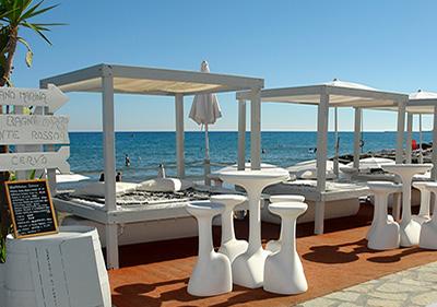 Restaurant aan zee in Diano Marina