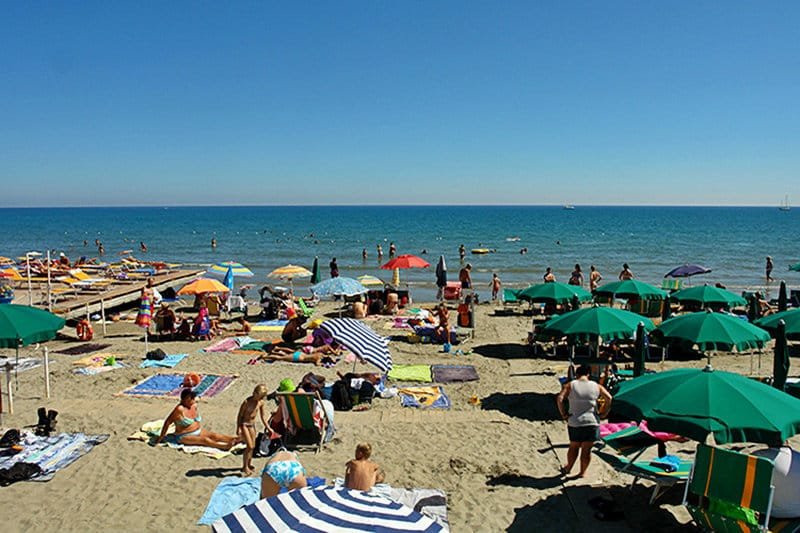 A private beach in Diano Marina