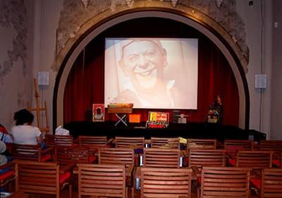 De filmkunst kamer in Villa Grock, Ligurië