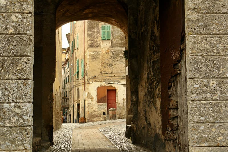 A medieval street in Ventimiglia
