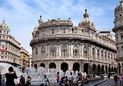 Piazza de Ferrari in Genua, Ligurie
