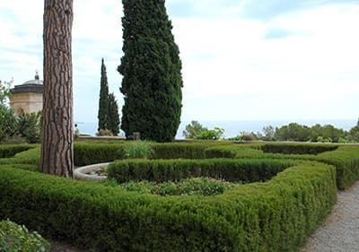 Giardini Hanbury in Ligurië, Italië