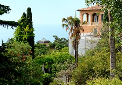 Villa Hanbury een Ventimiglia, Ligurië