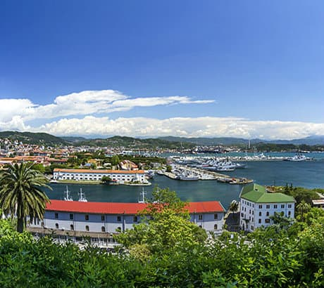 Uitzicht op La Spezia in Ligurië