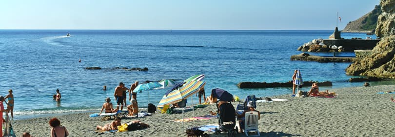 Strand in de provincie La Spezia, Ligurië