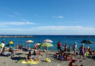 Stranden in Ligurië