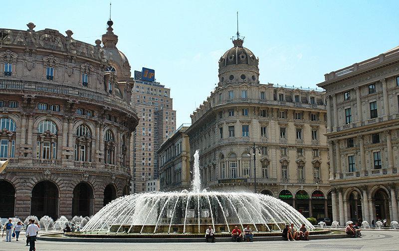 Piazza de Ferrari - de oude stad van Genua