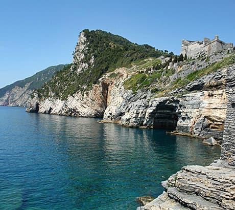Uitzicht op Portovenere in Ligurië