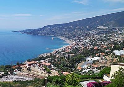 Uitzicht op Sanremo in Ligurië