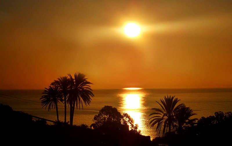 Ein Sonnenuntergang in Sanremo