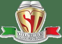 Scuola tri colore in Ligurien logo