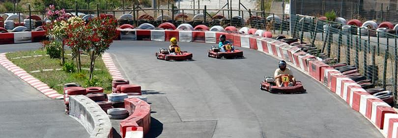 Go-kart racing in Ligurië