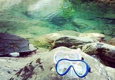 Snorkelen maskers in Ligurië