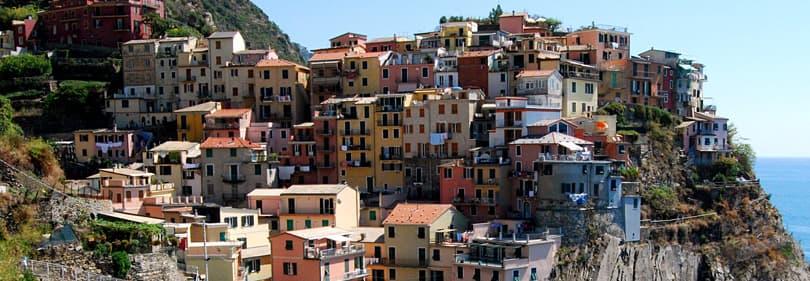 Cinque Terre, een van de beste top 10 toeristische attracties in Ligurië