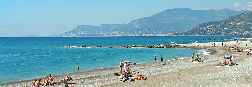 Strand in Ligurië
