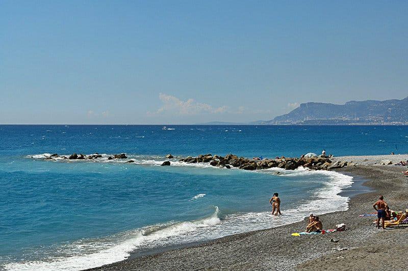 Strand in Ventimiglia