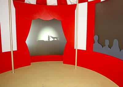 Circus kamer in Villa Grock, Ligurië