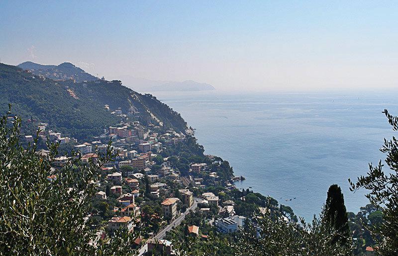 Een prachtig panoramisch uitzicht over Zoagli