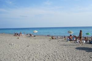 Camporosso Gratis stranden in Ligurië