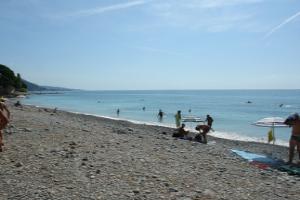 Latte Gratis stranden in Ligurië