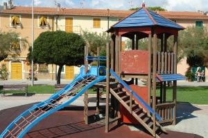 Riva Trigoso Speelplaats in Ligurië