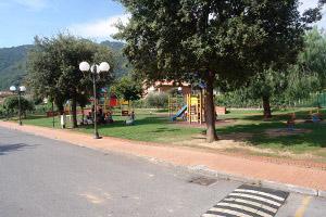 Ortovero Speelplaats in Ligurië