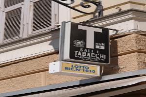 Tabacchi Kruidenierswinkel in Ligurië