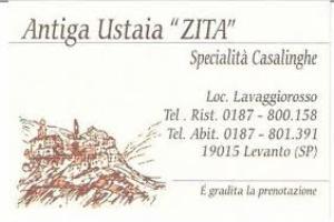 Antugua Ustaia Zita Restaurants in Ligurië