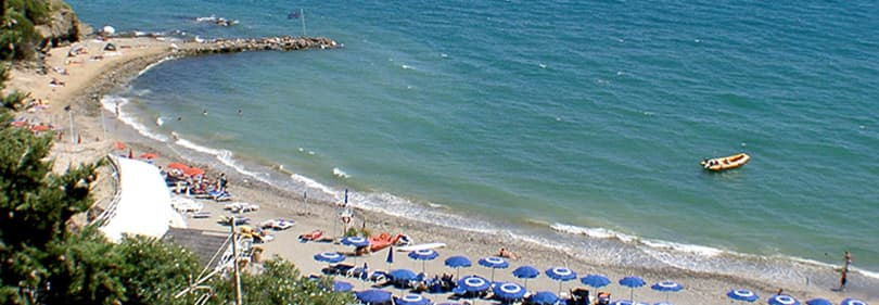 Baba beach in Alassio, Ligurien