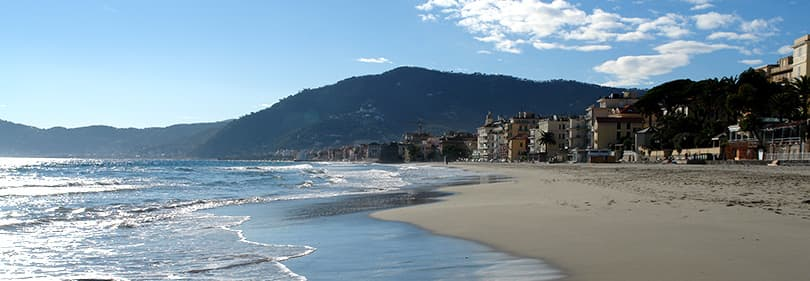 Strand in Alassio, Ligurie