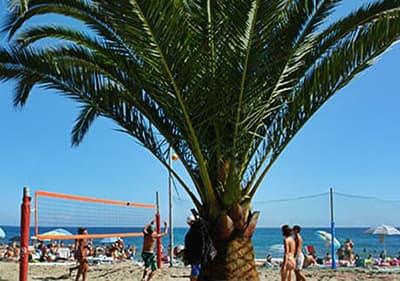 Strand in Andora, Ligurie