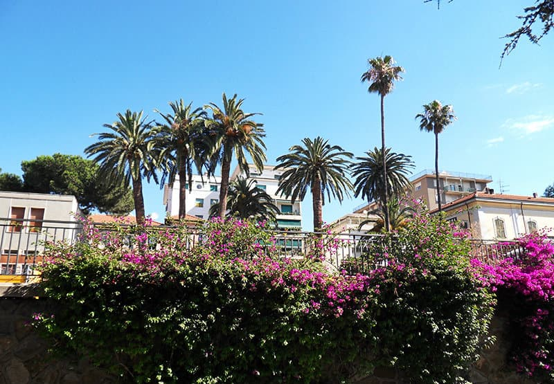 Prachtig uitzicht over de stad Arma di Taggia