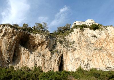 De grotten van Balzi Rossi in Ligurië