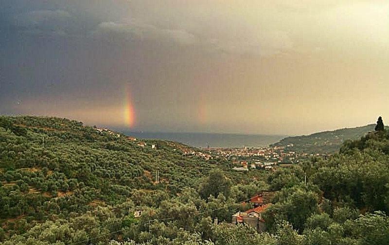 Uitzicht vanaf Besta in Ligurië